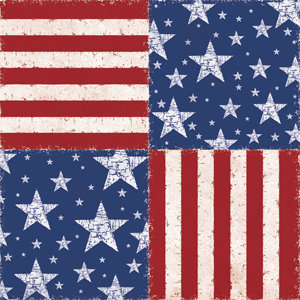 Creative Imaginations - Signature Military Collection - 12x12 Paper - Patriotic