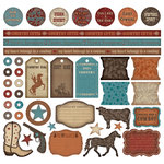 Creative Imaginations - Signature Western Spirit Collection - 12x12 Sticker Sheets - Western Spirit