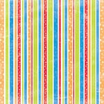 Creative Imaginations - Signature Magic Meals Collection - 12x12 Paper - Silly Stripes