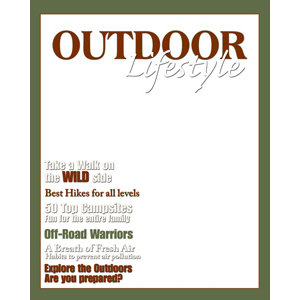 Creative Imaginations - Magazine Cover 8x10 Transparency - Outdoor Lifestyle
