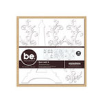 Creative Imaginations - Bare Elements - D-Mensions - Die Cut Chipboard with Adhesive Dots - Bon Soir, CLEARANCE