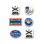 Creative Imaginations - Lionel Trains Collection - Stamped Metal Brads - Lionel Logos