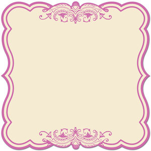 Creative Imaginations - Narratives - Bloom Collection - 12x12 Diecut Paper - Lilac Label