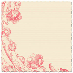 Creative Imaginations - Narratives - Bloom Collection - 12x12 Diecut Paper - Floral Poppy