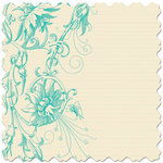 Creative Imaginations - Narratives - Bloom Collection - 12x12 Diecut Paper - Floral Teal, CLEARANCE