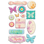 Creative Imaginations - Narratives - Bloom Collection - Epoxy Stickers - Bloom, CLEARANCE