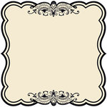 Creative Imaginations - Narratives - Antique Cream Collection - 12x12 Diecut Paper - Stripes Sky
