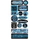 Creative Imaginations - Sports Xtreme - Water Sports Collection by Christine Adolph - Jumbo Sticker Sheet - Swimming