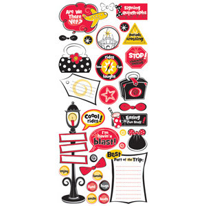 Creative Imaginations - Magic Collection - Jumbo Stickers - Fun Stuff