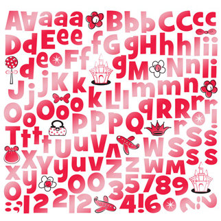 Creative Imaginations - Magic Collection - 12x12 Foil Cardstock Stickers - Alphabet - Red, CLEARANCE