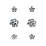 Creative Imaginations - Metal Cast Rhinestone Brads - Clear Flowers, CLEARANCE