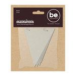 Creative Imaginations - Bare Elements - Chipboard Pennant Book - Elain