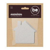 Creative Imaginations - Bare Elements - Chipboard House Mini Book - Petey