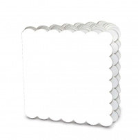Creative Imaginations - Creative Cafe Collection - Scalloped Mini Book - White