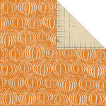 Creative Imaginations - Harvest Moon Collection by Danelle Johnson - 12 x 12 Double Sided Paper - Pumpkin Patch, CLEARANCE