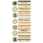 Creative Imaginations - Harvest Moon Collection by Danelle Johnson - Jumbo Stickers - Trickery, CLEARANCE
