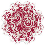 Creative Imaginations - Art Warehouse by Danelle Johnson - 12 x 12 Christmas Die Cut Paper - Hollyberry Swirl, CLEARANCE