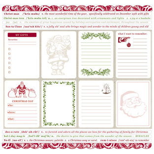 Creative Imaginations - Art Warehouse by Danelle Johnson - 12 x 12 Christmas Cardstock Stickers - Noel