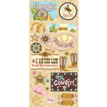 Creative Imaginations - Cowgirl Collection by Debbie Mumm - Jumbo Stickers - My Cowgirl