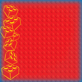 Creative Imaginations - Lego Classic Collection - 12 x 12 Embossed Paper - Classic Red Brick