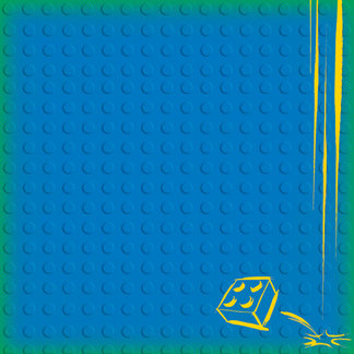 Creative Imaginations - Lego Classic Collection - 12 x 12 Embossed Paper - Classic Blue Brick