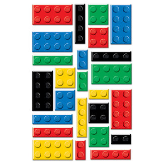 Creative Imaginations - Lego Classic Collection - Epoxy Stickers - Lego Bricks