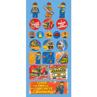 Creative Imaginations - Lego City Collection - Jumbo Cardstock Stickers - Construction