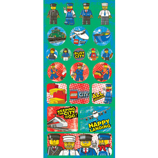 Creative Imaginations - Lego City Collection - Jumbo Cardstock Stickers - Transportation