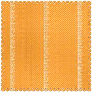 Creative Imaginations - Narratives - Bloom Collection - 12 x 12 Die Cut Paper - Polka Sunshine, CLEARANCE