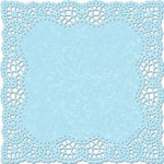 Creative Imaginations - Narratives by Karen Russell Collection - 12 x 12 Die Cut Paper - Sky Doily, CLEARANCE