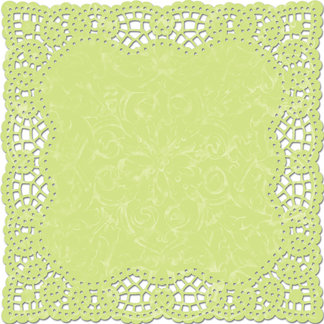 Creative Imaginations - Narratives by Karen Russell Collection - 12 x 12 Die Cut Paper - Meadow Doily, CLEARANCE