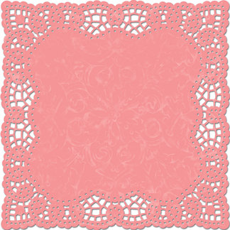 Creative Imaginations - Narratives by Karen Russell Collection - 12 x 12 Die Cut Paper - Light Poppy Doily