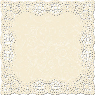 Creative Imaginations - Narratives by Karen Russell Collection - 12 x 12 Die Cut Paper - Cream Doily