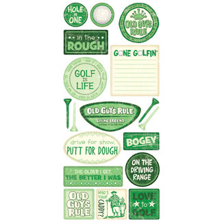 Creative Imaginations - Old Guys Rule Collection - Cardstock Stickers - Old Guys Golf