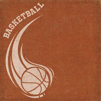 Creative Imaginations - Art Warehouse by Danelle Johnson - Swish Collection - 12 x 12 Embossed Paper - Basketball