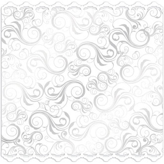 Creative Imaginations - Art Warehouse by Danelle Johnson - Radiance Collection II - 12 x 12 Glitter and Foil Die Cut Paper - White Fanfare