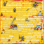 Creative Imaginations - Lego City Emergency Collection - 12 x 12 Paper - Firefighter