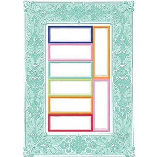 Creative Imaginations - Narratives by Karen Russell - Lilly Lane Collection - Embossed Cardstock Punchout Frame - Mint, CLEARANCE
