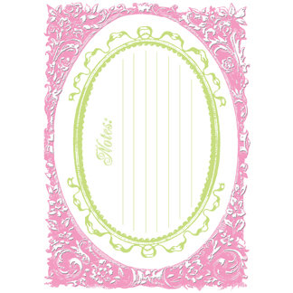 Creative Imaginations - Narratives by Karen Russell - Lilly Lane Collection - Embossed Cardstock Punchout Frame - Pinky, CLEARANCE