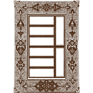 Creative Imaginations - Narratives by Karen Russell - Sepia Collection - Embossed Cardstock Punchout Frame - Sepia