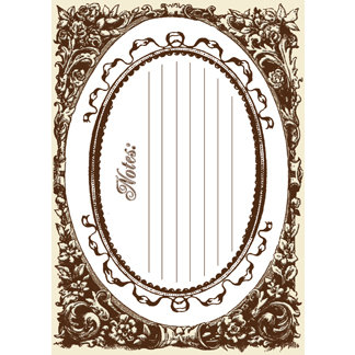 Creative Imaginations - Narratives by Karen Russell - Sepia Collection - Embossed Cardstock Punchout Frame - Sepia Oval, CLEARANCE