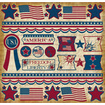 Creative Imaginations - Melange - Liberty Collection - 12 x 12 Cardstock Stickers - Liberty