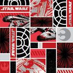 Creative Imaginations - Star Wars Collection - 12 x 12 Silver Foil Paper - Millennium Falcon