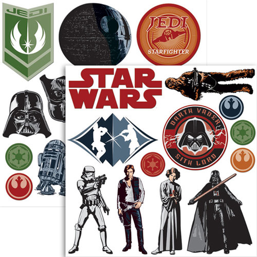 Creative Imaginations - Star Wars Collection - 12 x 12 Non Adhesive Chipboard - Die Cut Shapes, CLEARANCE