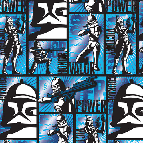 Creative Imaginations - Star Wars Clone Wars Collection - 12 x 12 Blue Foil Paper - Clones