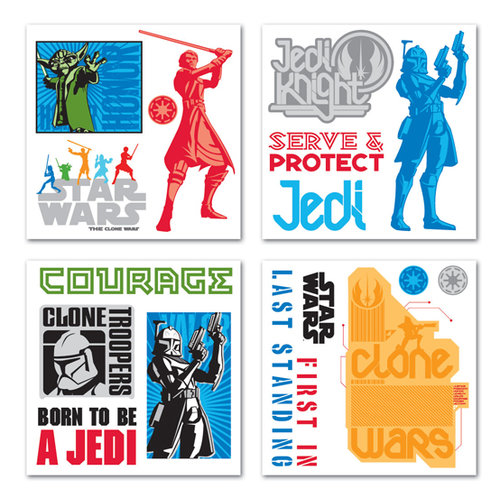 Creative Imaginations - Star Wars Clone Wars Collection - Rub Ons Swatch Pack - Clone Wars