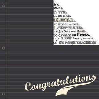 Creative Imaginations - Grads Rule Collection - 12 x 12 Double Sided Paper - Congrats, CLEARANCE