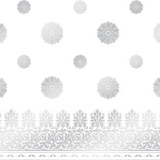Creative Imaginations - Lovebird Collection - 12 x 12 Embossed Foil Paper - Lovebird Lace, CLEARANCE