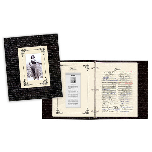 Creative Imaginations - Signature Collection - 3 Ring Binder - Memorial Album - 10 x 12