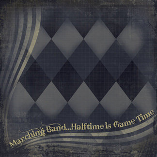 Creative Imaginations - Marching Band Collection - 12 x 12 Paper - Halftime